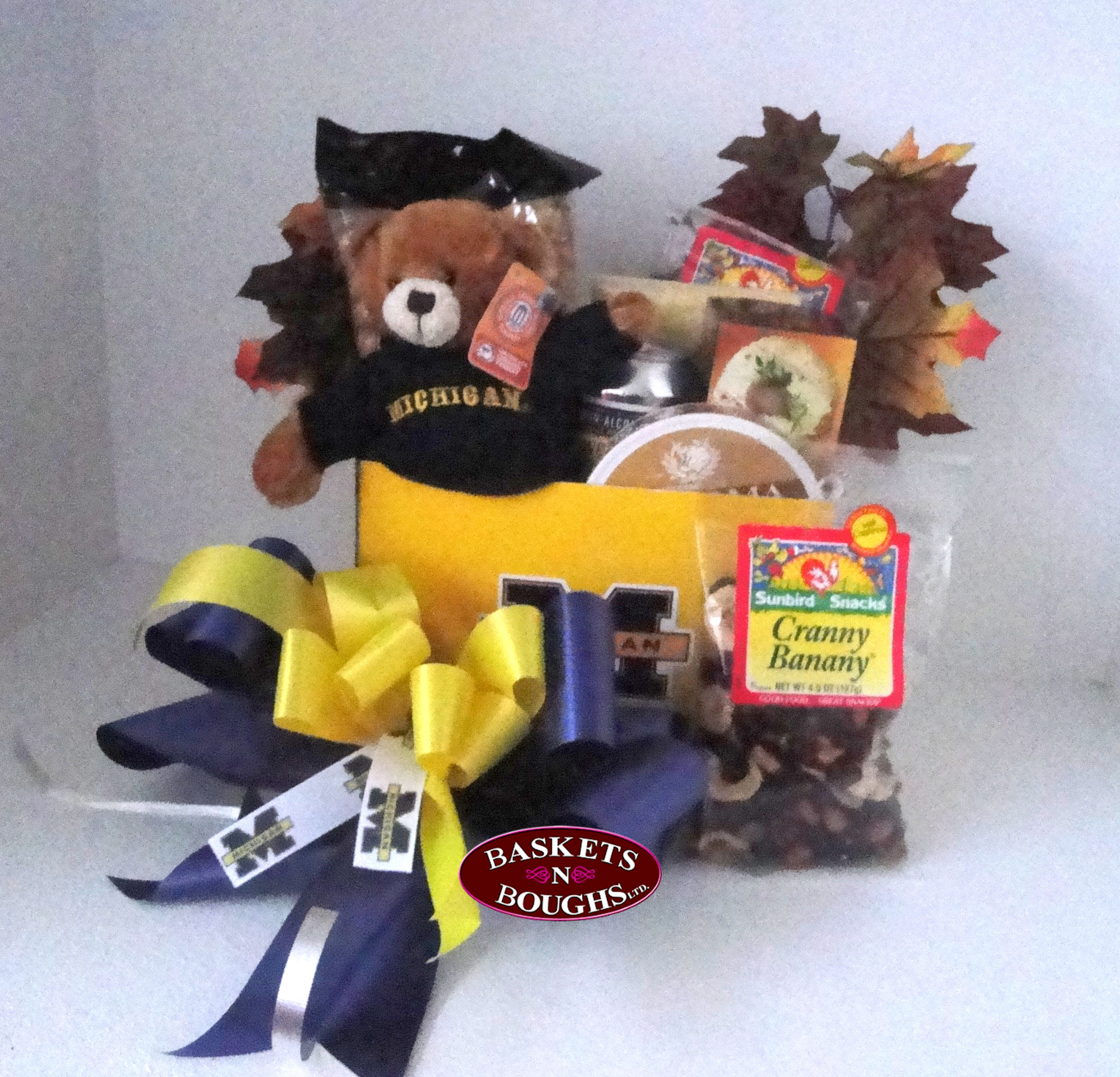 Michigan Football Gift Basket Box