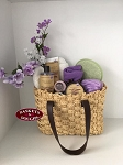 French Lavender Sisal Hand Bag