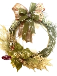 Green Country Christmas Twig Wreath