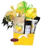 Lemon Brunch Gift Basket Box