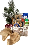 Rustic Country Winter Let it Snow Small Gift Basket Box
