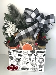 Christmas in Ohio Country Farm House Gift Basket Box