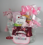 Welcome Baby Girl Gift Basket Tote