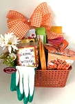 Orange Dahlia Gardening Gift Basket