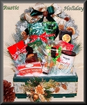 Rustic Holiday Farm House Gift Crate