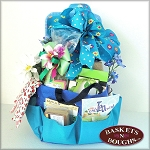 Gardening Blues Gift Basket Tote