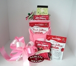 Pink and White Golf Cooler Gift Basket