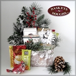 Rustic Country Winter Let it Snow Gift Basket Box