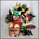 Cones and Holly Christmas Gift Box