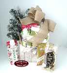 Farm House Winter Let it Snow Gift Basket- Small Size