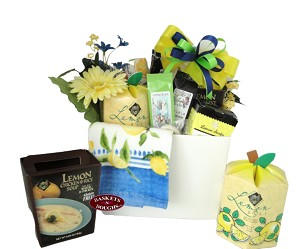 Lemon Brunch Gift Basket